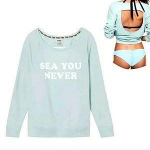 PINK VS Sea You Never Open Back Sweatshirt